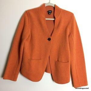 Eileen Fisher | Jacket Wool Cotton Blend Orange S